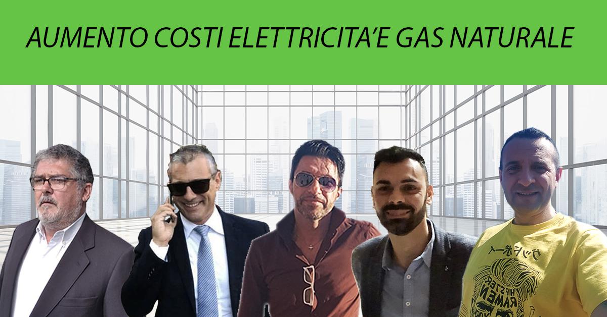 Energia -AUMENTO COSTI ENERGIA E GAS NATURALE